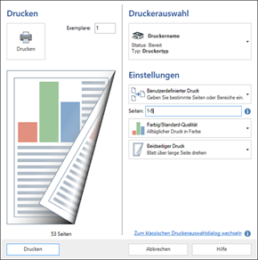 ORCA AVA Software Version 22 - Druck-Dialog
