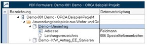 ORCA AVA Software Professional Edition - Ansicht Dokumente